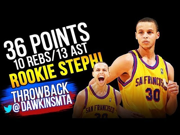 The Game Rookie Steph Curry Got His 1st Triple Double! - 36 Pts, 10 Rebs, 13 Ast!