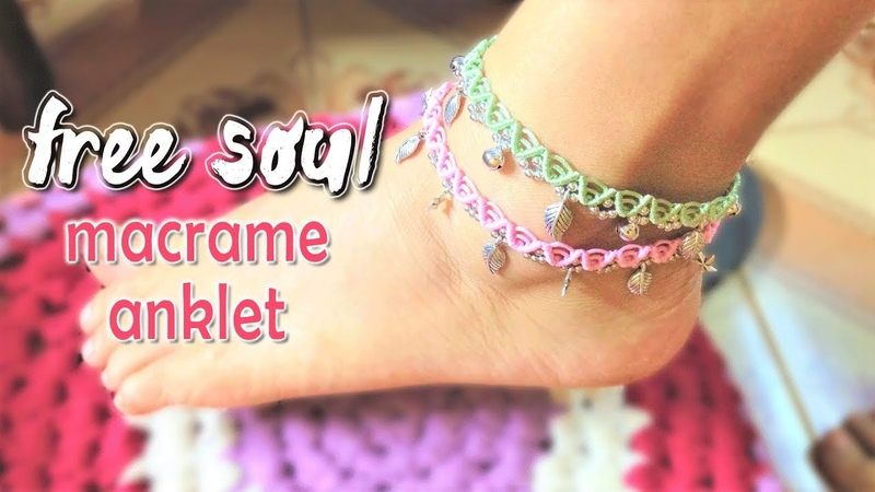 Free your soul with this macrame anklet tutorial Boho style Hướng dẫn làm lắc chân Boho