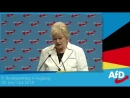 9 AfD Parteitag Erika Steinbach bekommt stehende Ovation nach ihrer Rede