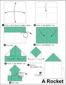 оригами для детей ракета схема.