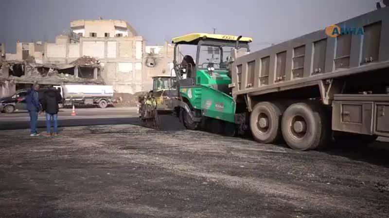 Реабилитация площади АльНаим в Ракке.