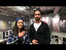 @itsBayleyWWE and @WWERollins excited for tears of happiness and excitement for the second night in WWECapeTown after a visit to