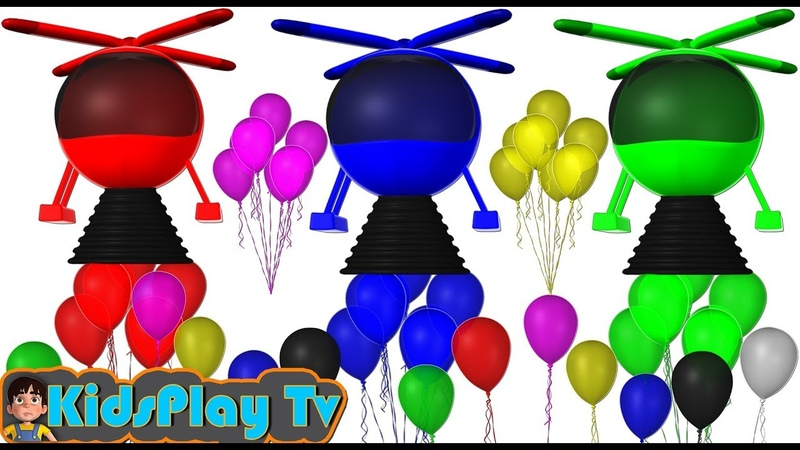 Learn Colors with Water Balloons 3D UFO for Kid Children and Toddlers Kids Play Tv