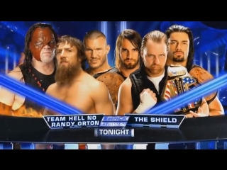 Kane, Daniel Bryan and Randy Orton vs The Shield