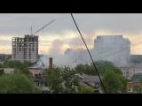 Снял видео про пожар, город Орёл, улица Герцена, 12.05.2018 год