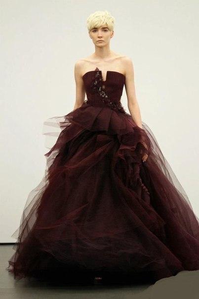"""Шикарные платья потрясающего винного цвета """"Марсала"""""""
