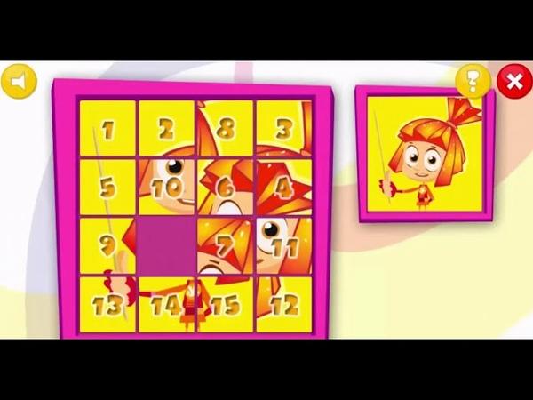 Фиксики Пятнашки Мультик игра Fixiki Game Spots игры фиксики