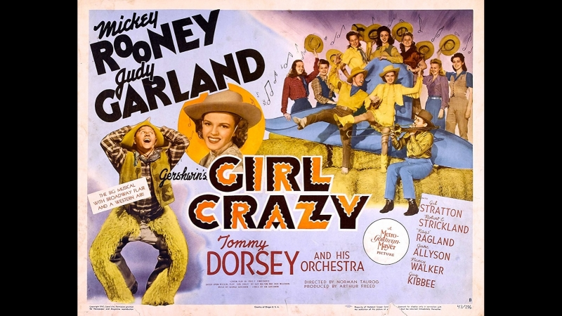Girl Crazy (1943) Mickey Rooney, Judy Garland, Gil Stratton