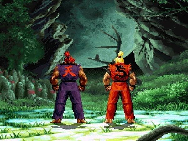Dragon Ken vs Shin Akuma