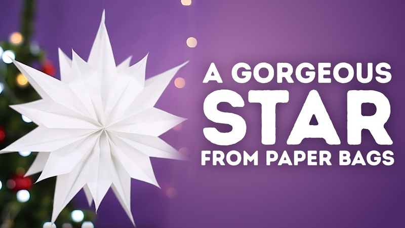 How to make a star from paper bags l 5-MINUTE CRAFTS