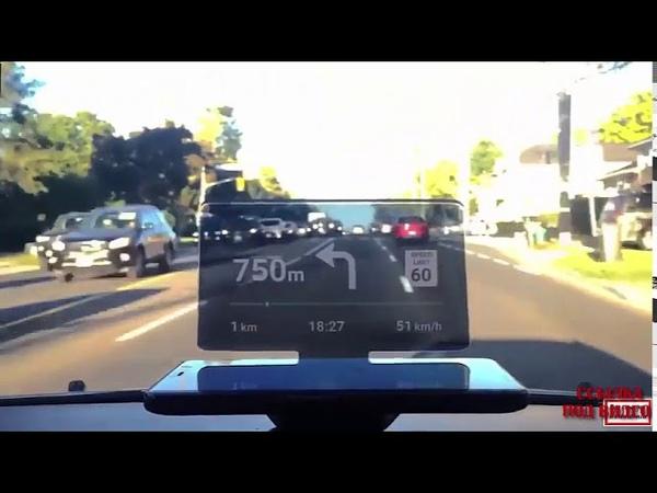 Обзор устройства для смартфона HUD MOBILE NAVIGATION