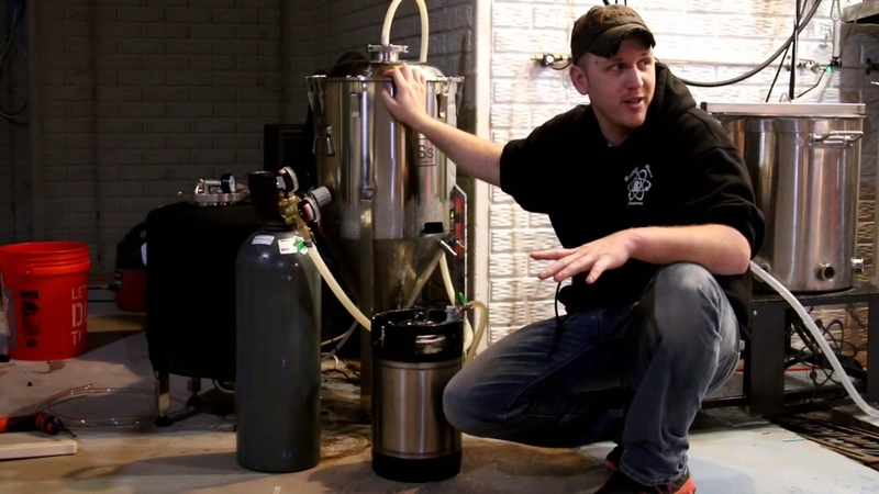 Reaction Brewing Company force transfer from conical to brite