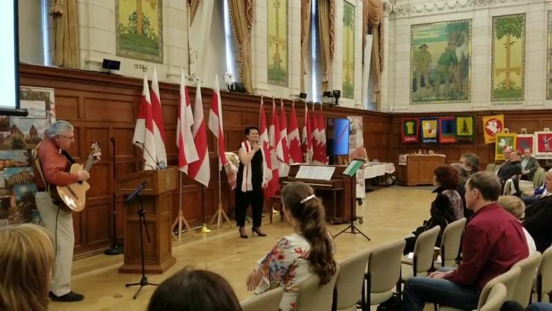 Выступление беларусав в Отаве канада на 100 лет БНР наш сцяг