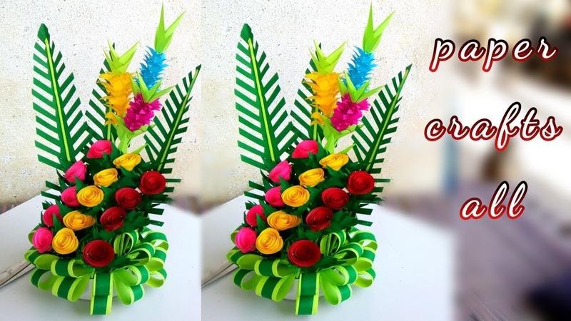 Paper flower bouquet 2019 make paper floral decoration diy flower bouquet paper