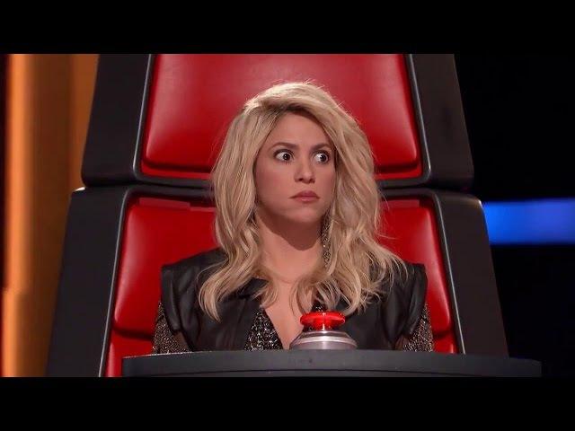 Шакира в ШОКЕ! Девушка БЕЗУМНО КРУТО спела ее песню. Шоу голос