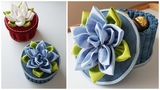 How To Make Easy Handmade Fabric Basket   Корзиночка из бросового материала. Поделки своими руками