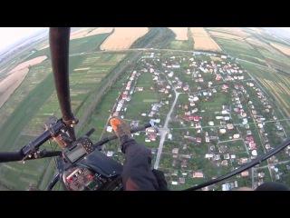 Політ на мотопаропоані біля Львова Flight on powered paragliding near Lviv 512 метрів над землею