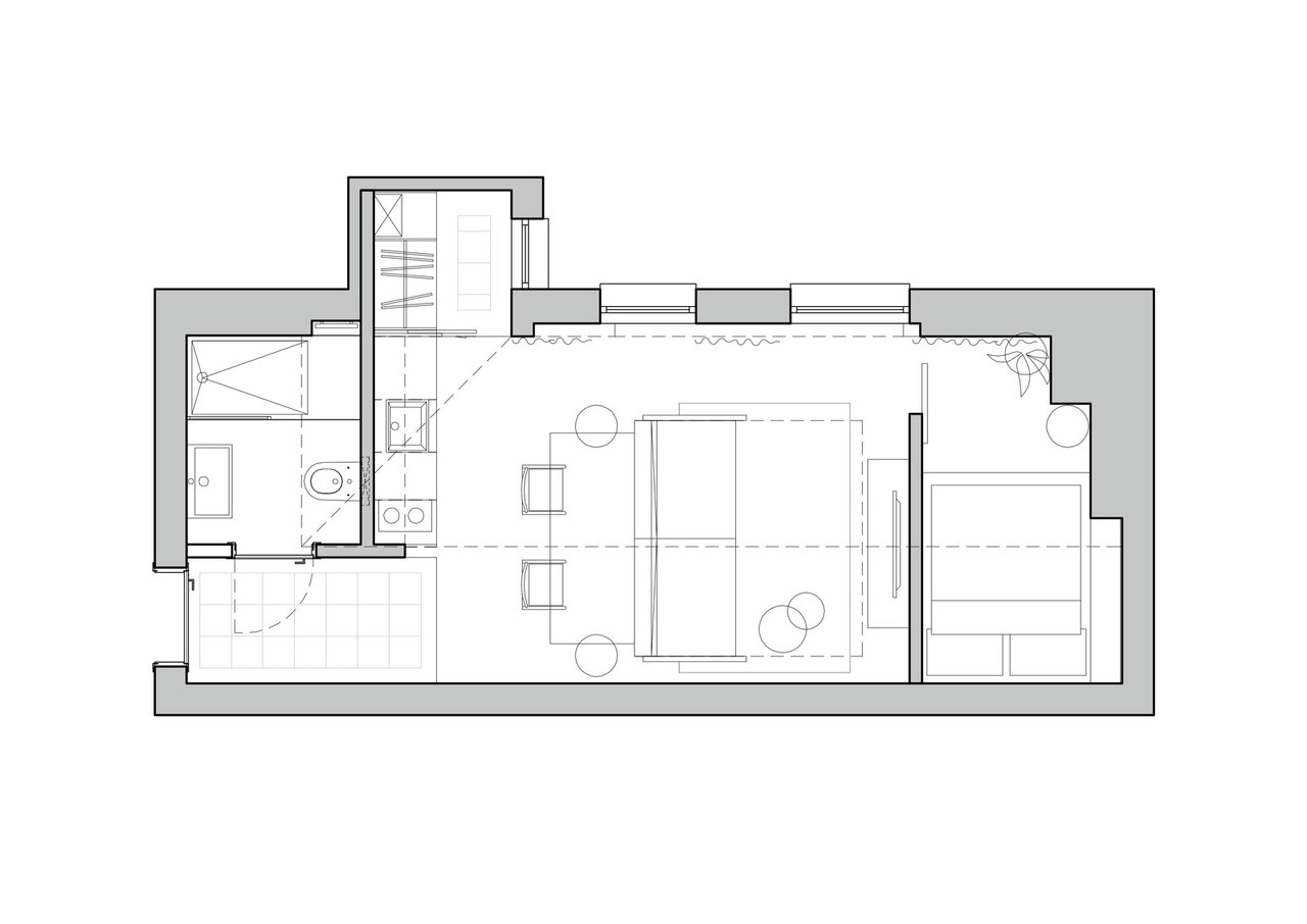 Однокомнатная квартира 36 кв.