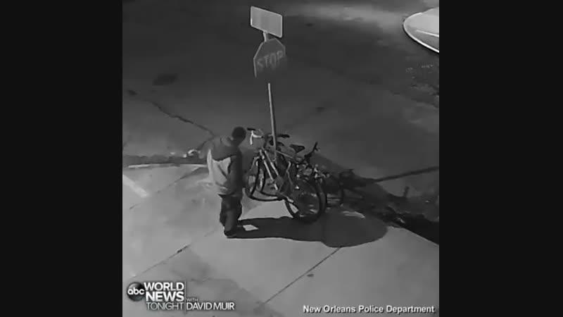 Дерзкое похищение велосипеда