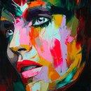 Французская художница Francoise Nielly и ее красочные портреты…