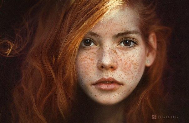 Фотки красивые девушки рыжие и канапатые