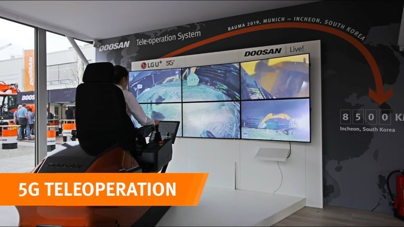 Doosan's revolutionary TeleOperation system at Bauma 2019