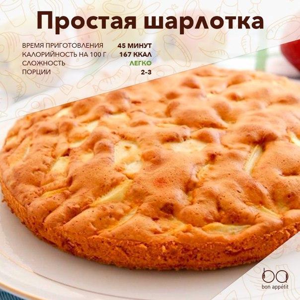 Шарлотка с яблоками рецепт быстро и просто