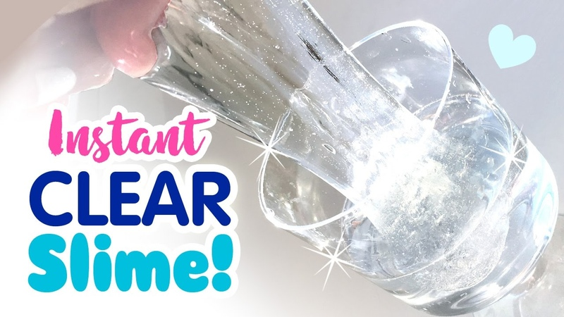 DIY INSTANT CLEAR SLIME No Waiting For Bubbles! No Borax, No Detergent!