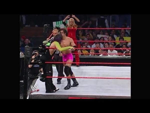 Jeff Hardy Trish Stratus vs Victoria Steven Richards Raw 03.24.2003