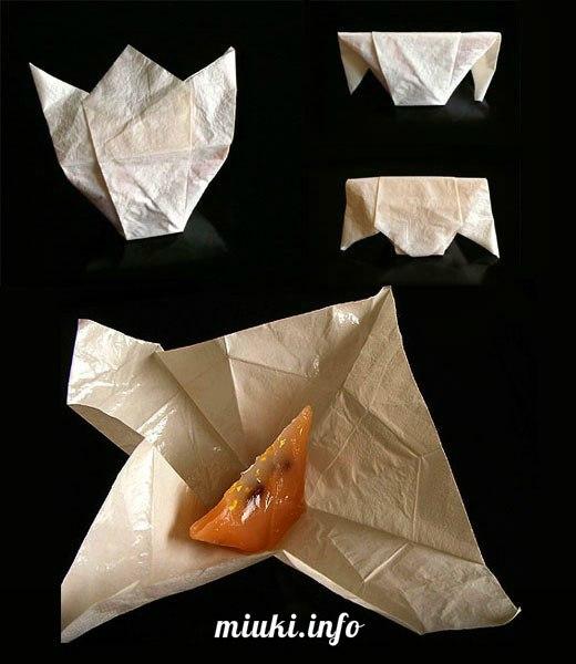 Традиционная японская упаковка в стиле оригами
