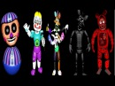 All Dismantled Animatronics Jumpscares Five Nights At Gipsys 3 EXTRAS