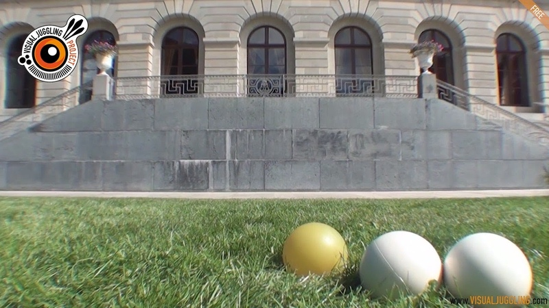 AWESOME Contact juggling with 2 and 3 balls - Cyrille Humen - Visual Juggling 1.0