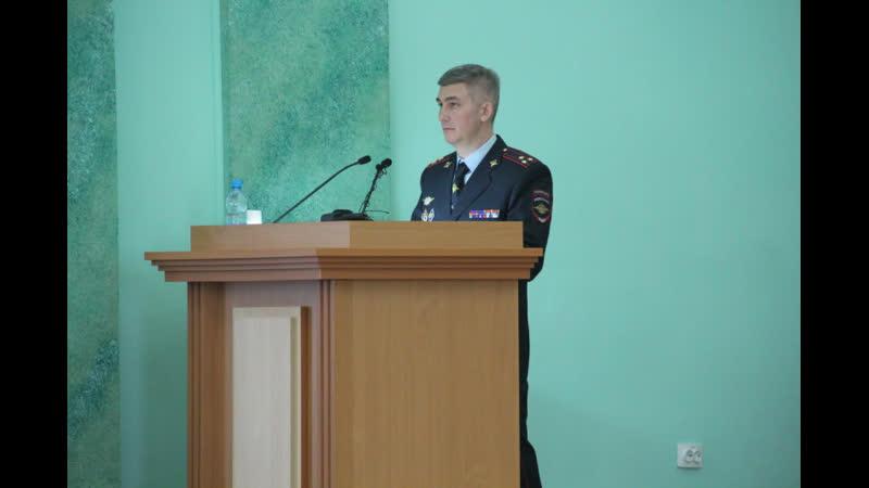 Владислав Толкунов отчитался о результатах работы брянской полиции в 2018 году