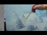 Пишем зимний пейзаж - Метелица