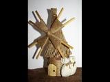 Ветряная мельница - предмет интерьера, сувенир или подарок своими руками! Мастер-класс!