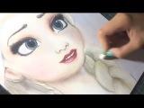 Рисуем Эльзу (Elsa of Frozen by Diana Diaz)