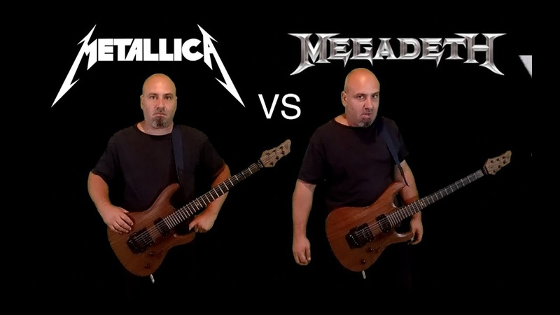 Metallica VS Megadeth (Guitar Riffs Battle)