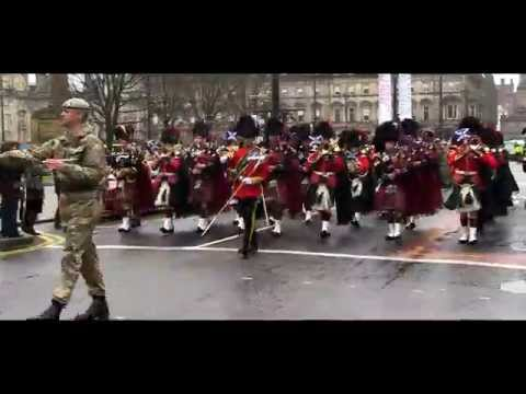 Royal Scots Dragoon Guards Homecoming Glasgow 2014