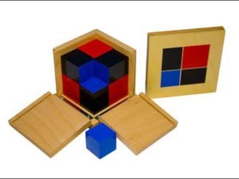 Монтессори-материал «Биноминальный куб» (№8, МИМП)