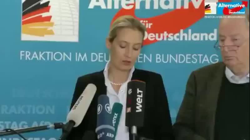 Alice Weidel - 29.10.18 - Merkel selbst sagt seit Jahren, Parteivorsitz und Kanzlerschaft gehören zusammen. Jetzt gibt sie ihren