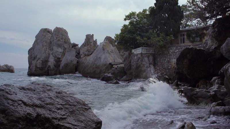 Чеховская бухта в поселке Гурзуф, Крым (Chekhov Bay in the village Gurzuf, Crimea, Russia)