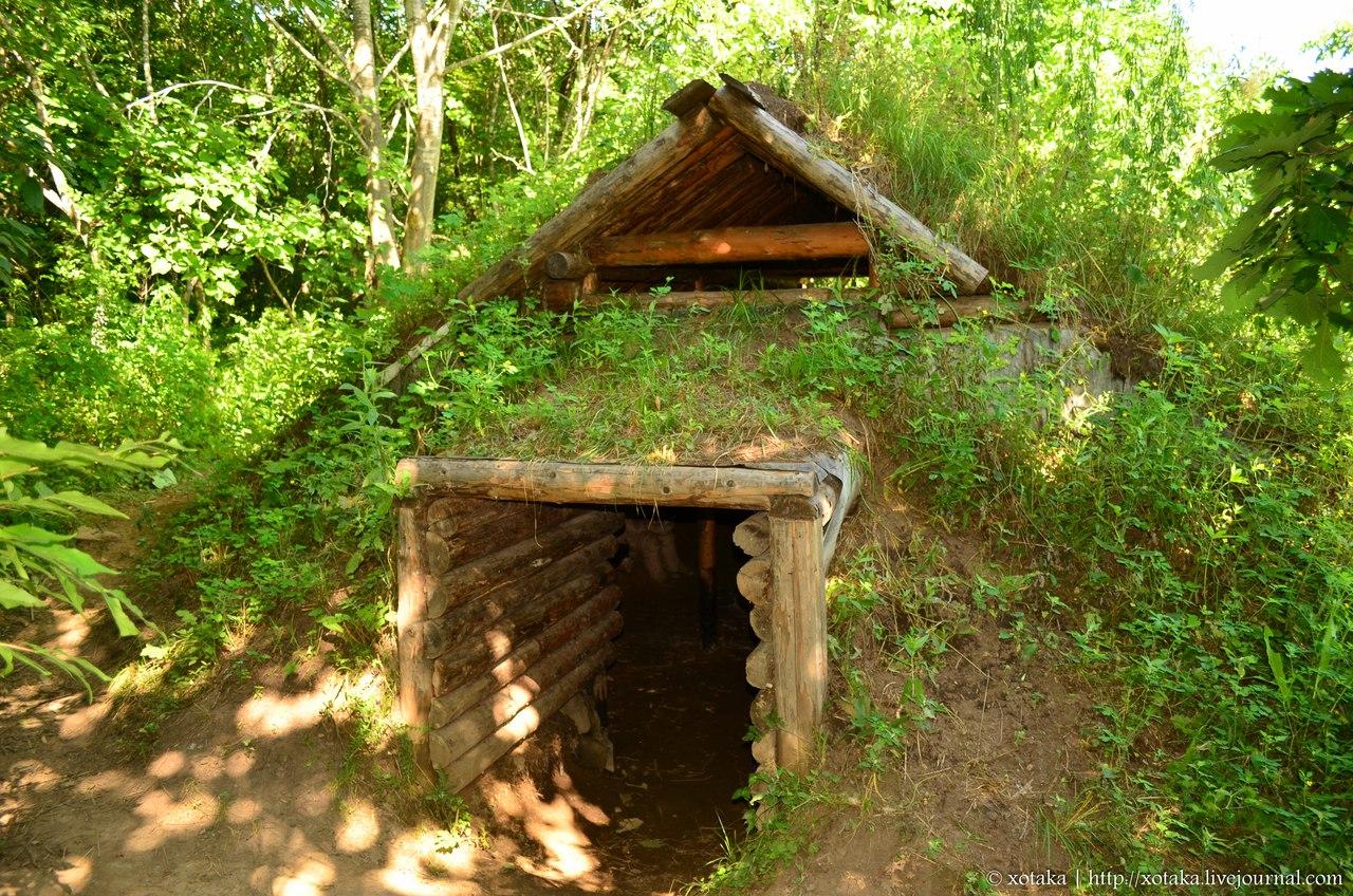 Как построить землянку в лесу своими руками с печкой 85