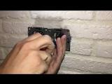 Монтаж проектора, розеток в кальянной