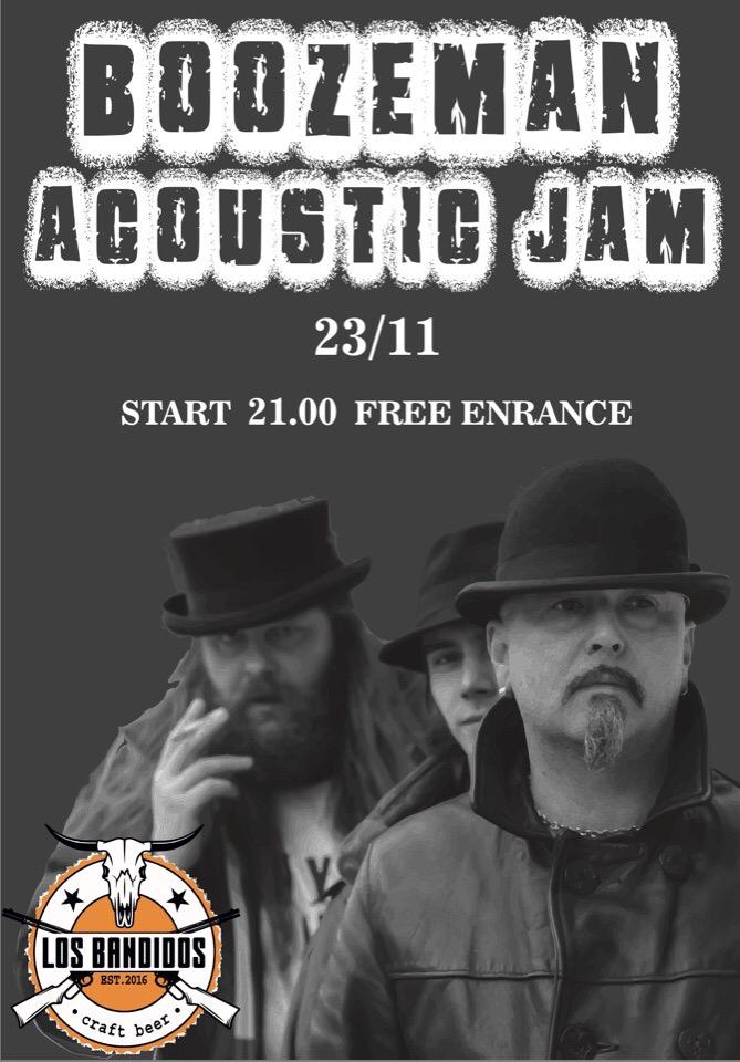 23.11 Boozemen Acoustic jam в Los Bandidos!