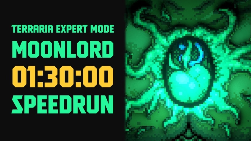 Terraria - [expert mode speedrun] moonlord in 90 minutes