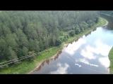 Прыжок на притесах Сереги на реке Ай.