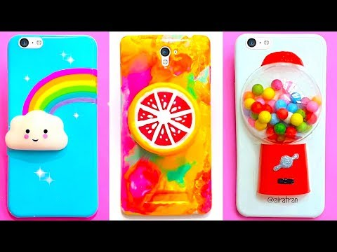 6 DIY STRESS RELIEVER PHONE CASES | Easy Cute Phone Projects iPhone Hacks