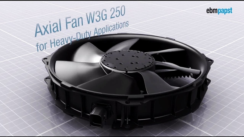 Energy-efficiency for heavy-duty applications: The axial fan W3G 250 by ebm-papst