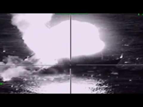 Пуски с самолетов Су-34 противокорабельных ракет Х-35У по морским целям