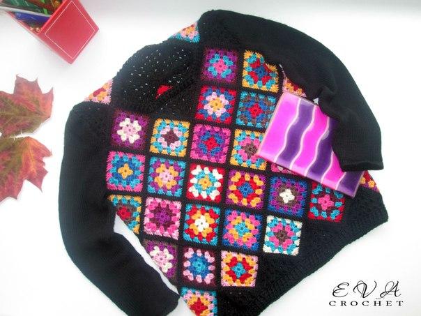 Детский свитер Цветомир . (3 фото) - картинка